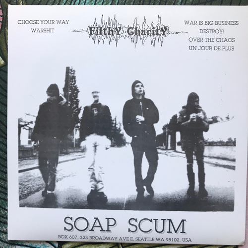 """FILTHY CHARITY Disgrace Of The Earth (Soap Scum - France original) (EX) 7"""""""