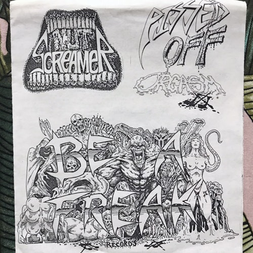 "NUT SCREAMER / PISSED OFF ORGASM Be A Freak (Be A Freak - USA original) (EX) 7"""