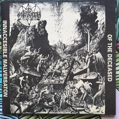 "SATANIC DEATH / AUDIOSTENCH Split (Fan - Holland original) (EX) 7"""