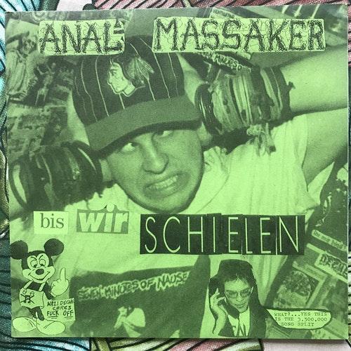 "ANAL MASSAKER / MEAT SHITS Split (Schnauf - Germany original) (EX) 7"""