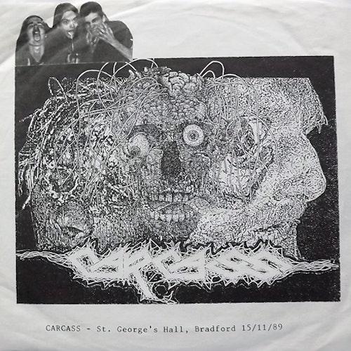 "CARCASS St. George's Hall, Bradford 15/11/89 (Distorted Harmony - Mexico original) (VG/EX) 7"""