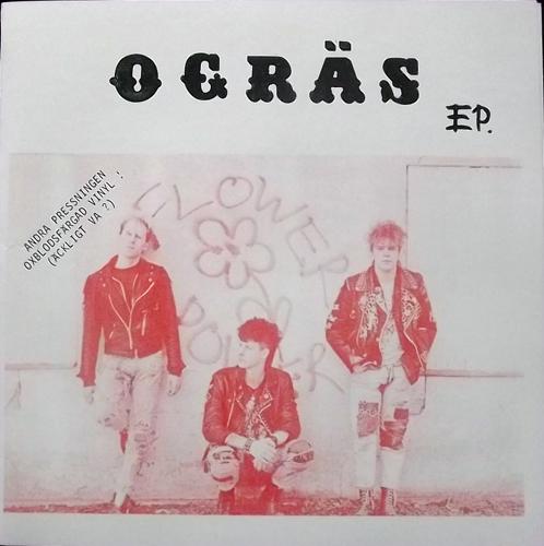 """OGRÄS EP (Red vinyl) (Self released - Sweden 2nd press) (EX) 7"""""""