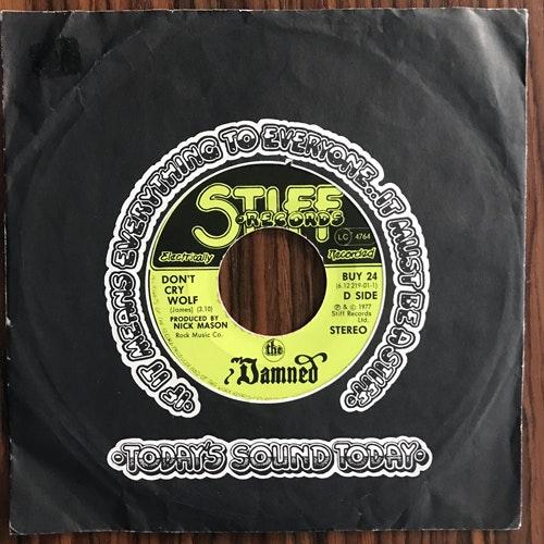 "DAMNED, the Don't Cry Wolf (Pink vinyl) (Stiff - UK original) (VG/VG+) 7"""