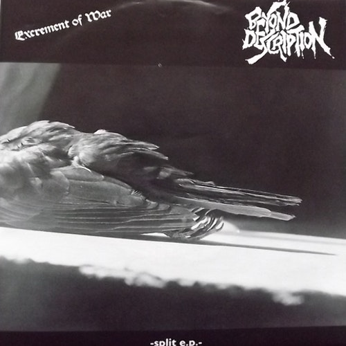 "EXCREMENT OF WAR/BEYOND DESCRIPTION Split (Green vinyl) (Ecocentric - Germany original) (EX) 7"""