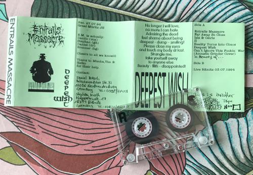 ENTRAILS MASSACRE Deepest Wish (Sensitive Wormrile - Germany original) (EX) TAPE
