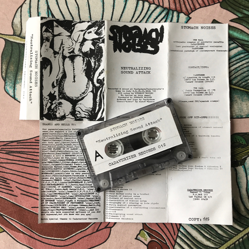 STOMACH NOISES Neutralizing Sound Attack (Cadaverizer - Spain original) (VG+) TAPE