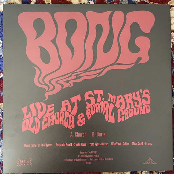 BONG Live At The St. Mary's Old Church & Burial Grounds (MIE - UK original) (EX) LP