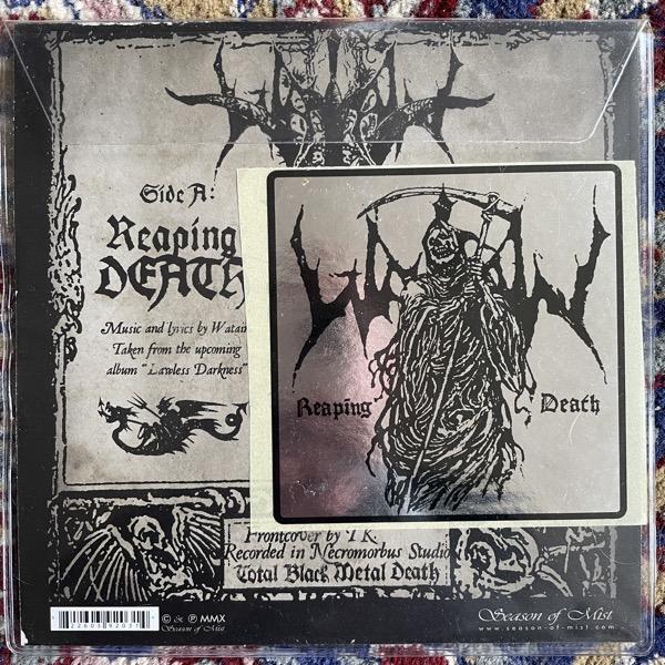 "WATAIN Reaping Death (Season of Mist - France original) (VG+/EX) PIC 7"""
