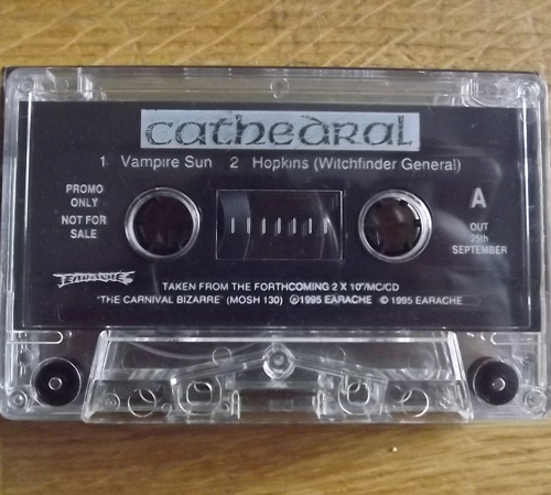 CATHEDRAL / AT THE GATES Split Promo Tape (Earache - UK original) (NM) TAPE