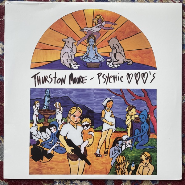 THURSTON MOORE Psychic Hearts (Green vinyl) (DGC - USA original) (VG+/EX) 2LP