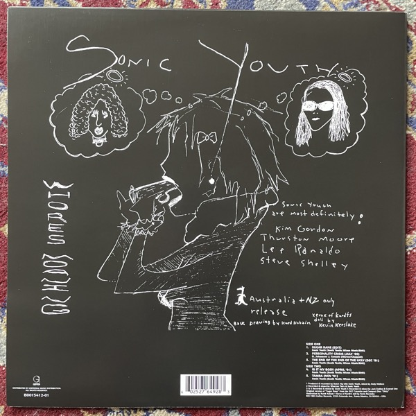 """SONIC YOUTH Whore's Moaning: Oz '93 Tour Edition (Blue vinyl) (Geffen - USA 2011 reissue) (EX) 12"""" EP"""