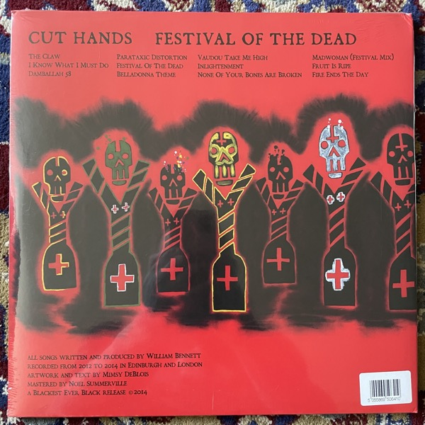 CUT HANDS Festival Of The Dead (Blackest Ever Black - UK original) (SS) 2LP