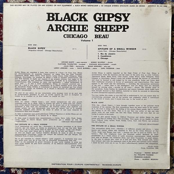 ARCHIE SHEPP, CHICAGO BEAU Black Gipsy (America - France original) (VG/EX) LP