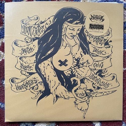 "NUNSLAUGHTER / FETUS EATER Split (Gold vinyl) (NunSlaughter - USA original) (EX) 7"""