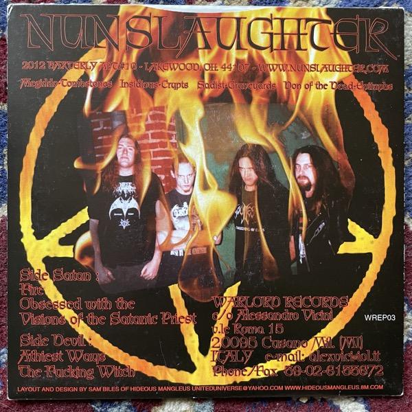 "NUNSLAUGHTER Trifurcate (Warlord - Italy original) (EX) 7"""