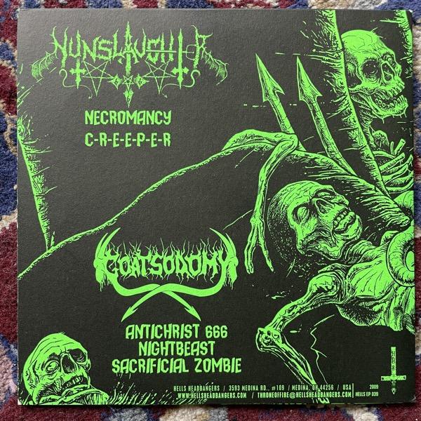 "NUNSLAUGHTER / GOATSODOMY Split (Hells Headbangers - USA original) (EX) 7"""