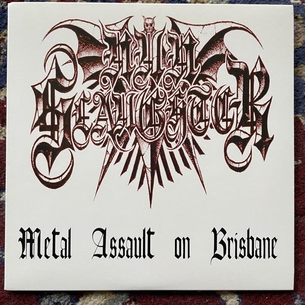 "NUNSLAUGHTER Metal Assault On Brisbane (Hells Headbangers - USA original) (NM/EX) 7"""