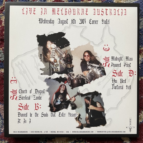 "NUNSLAUGHTER Metal Assault On Melbourne (Hells Headbangers - USA original) (NM/EX) 2x7"""