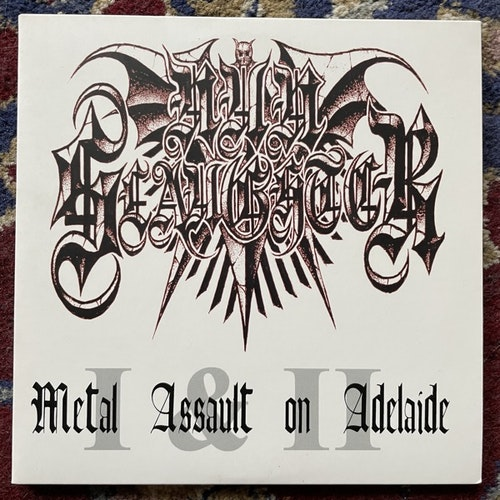 "NUNSLAUGHTER Metal Assault On Adelaide (Hells Headbangers - USA original) (NM/EX) 2x7"""