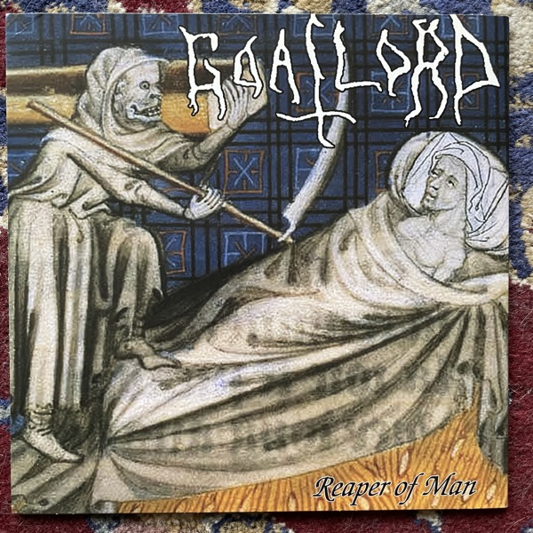 """NUNSLAUGHTER / GOATLORD Foreshadow / Reaper Of Man (Yellow vinyl) ( Bestial Onslaught - USA original) (EX) 7"""""""
