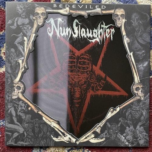 "NUNSLAUGHTER / THRONEUM Bedeviled (Hells Headbangers - USA original) (EX) 7"""