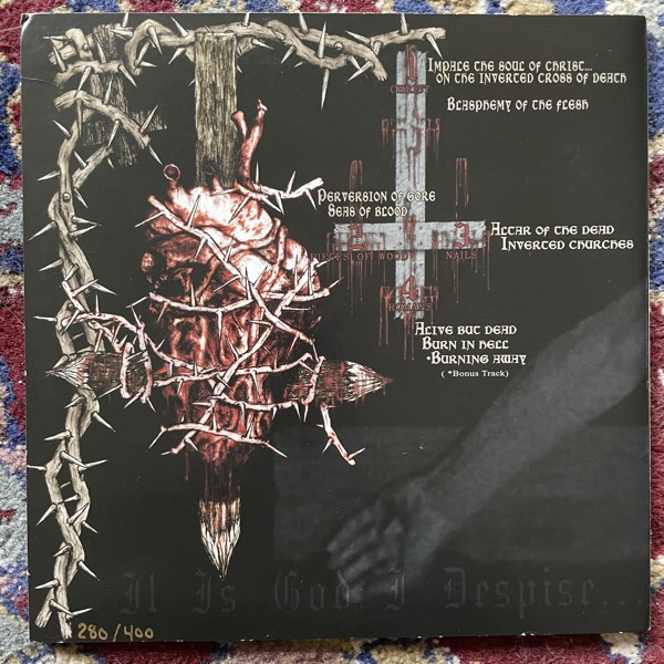 "NUNSLAUGHTER Impale The Soul Of Christ... (Hells Headbangers - USA original) (EX) 2x7"""