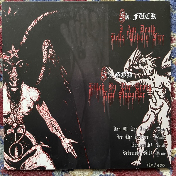 "NUNSLAUGHTER Ritual Of Darkness (Hells Headbangers - USA reissue) (EX) 7"""