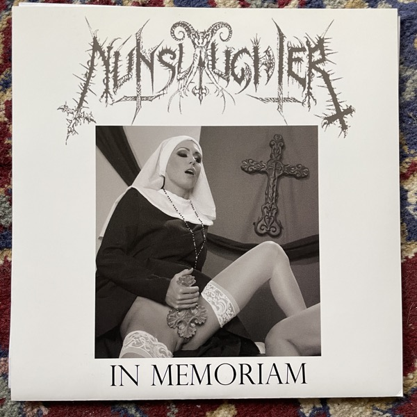 "NUNSLAUGHTER In Memoriam (Dark brown/red vinyl) (Supposed To Rot - USA original) (EX) 7"""