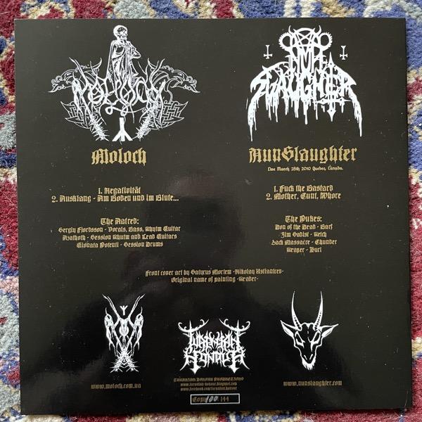"NUNSLAUGHTER / MOLOCH Split (Turanian Honour - Hungary original) (NM) 7"""