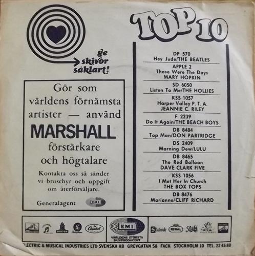 "SUPREMES, the Love Child (Tamla Motown - Sweden original) (VG-/VG) 7"""