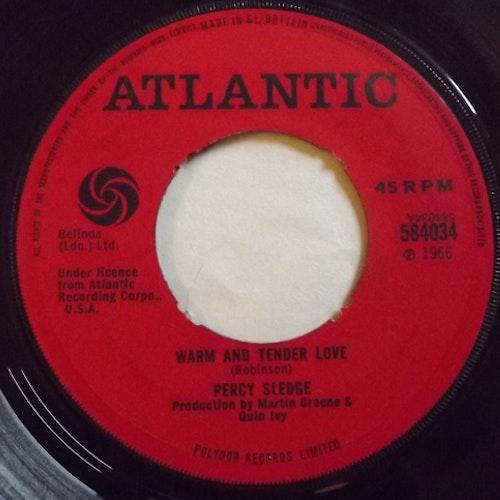 "PERCY SLEDGE Warm And Tender Love (Atlantic - UK original) (VG-) 7"""