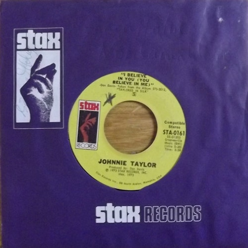 """JOHNNIE TAYLOR I Believe In You (You Believe In Me) (Stax - USA original) (VG) 7"""""""