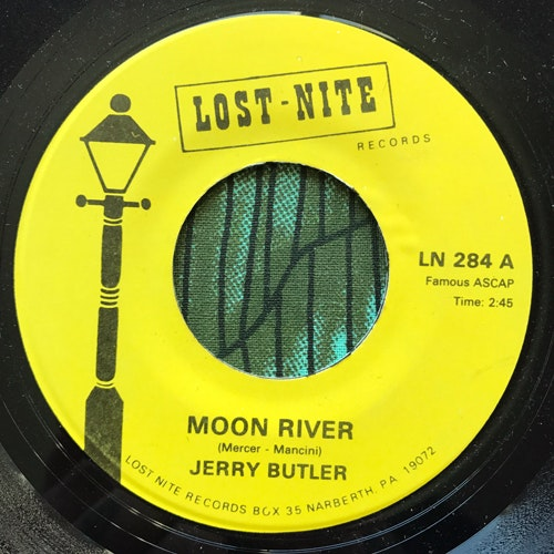 """JERRY BUTLER Moon River (Lost Nite - USA repress) (VG) 7"""""""