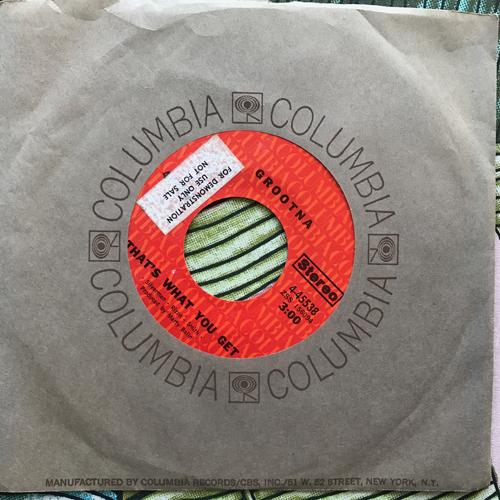 "GROOTNA Waitin' For My Ship (Columbia - USA original) (VG+) 7"""