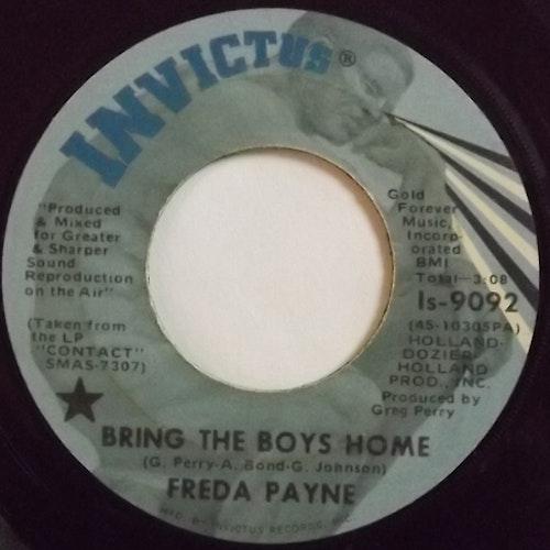 "FREDA PAYNE Bring The Boys Home (Invictus - USA original) (VG-) 7"""