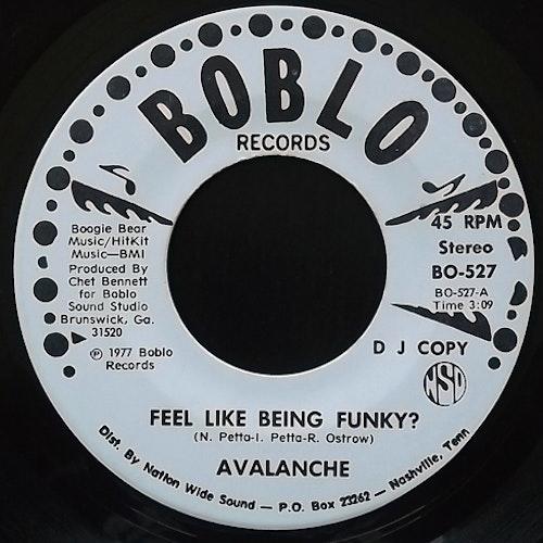 "AVALANCHE Feel Like Being Funky? (Promo) (Boblo - USA original) (VG) 7"""