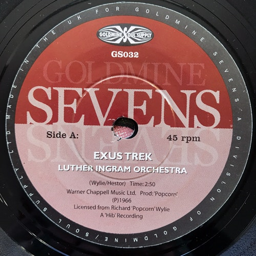 "LUTHER INGRAM ORCHESTRA Exus Trek (Goldmine Soul Supply - UK reissue) (VG) 7"""