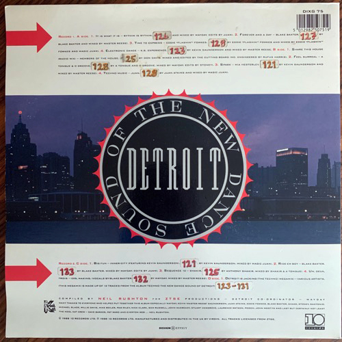 VARIOUS Techno! The New Dance Sound Of Detroit (10 - UK original) (VG+/F) 2LP