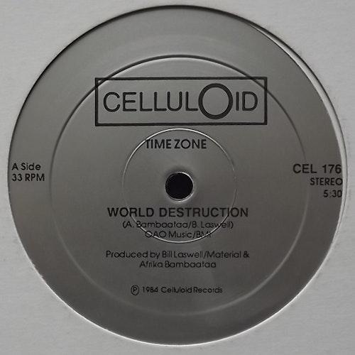 "TIME ZONE World Destruction (Celluloid - USA repress) (VG+) 12"""