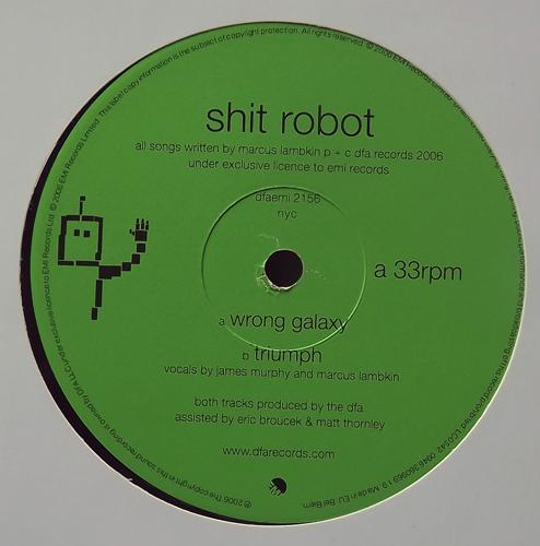 "SHIT ROBOT Wrong Galaxy (DFA - UK original) (VG+) 12"""