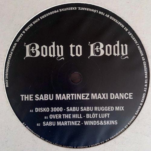 "SABU MARTINEZ/OVER THE HILL/DISKO 3000 The Sabu Martinez Maxi Dance (Mellotronen - Sweden original) (EX) 12"""