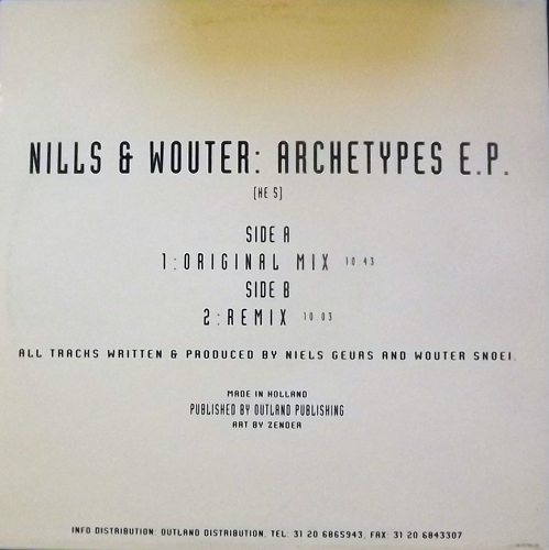 """NILLS & WOUTER Archetypes EP (Healing Effect - Holland original) (EX) 12"""" EP"""
