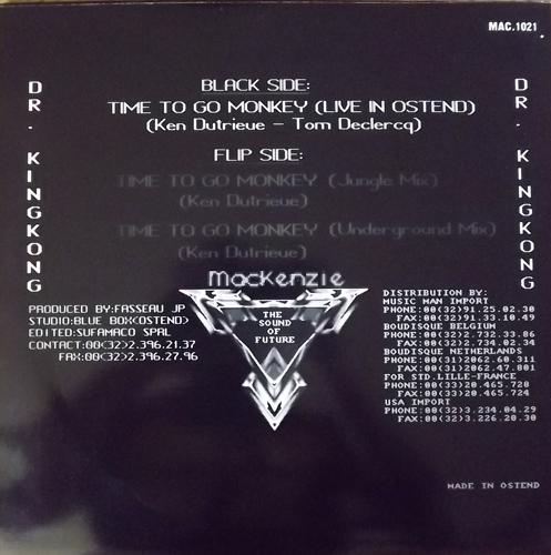 """DR. KINGKONG Time To Go Monkey (Mackenzie - Belgium original) (VG/EX) 12"""" EP"""