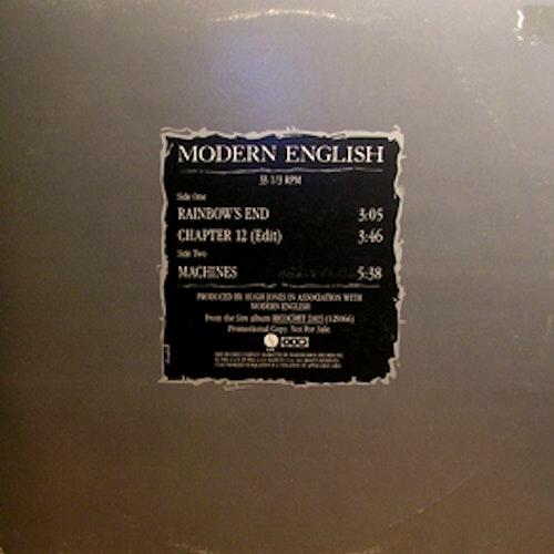 "MODERN ENGLISH Rainbow's End (Promo) (Sire - USA original) (G/EX) 12"""