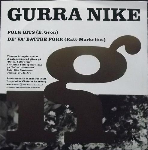 """GURRA NIKE Folk Bits (Mistlur - Sweden original) (EX/VG+) 7"""""""