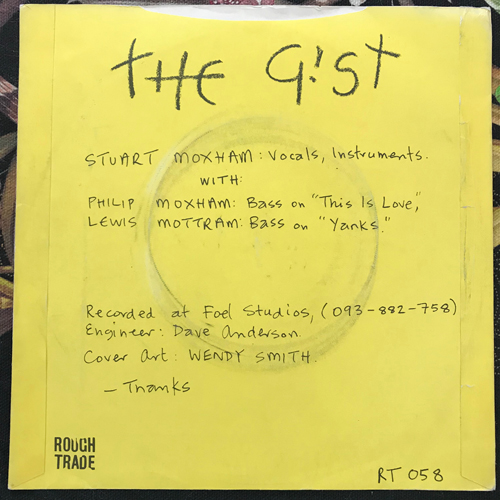 """GIST, the This Is Love (Rough Trade - UK original) (VG/VG+) 7"""""""