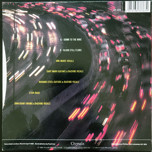 """GHOST DANCE Down To The Wire (Chrysalis - UK original) (EX/VG+) 7"""""""