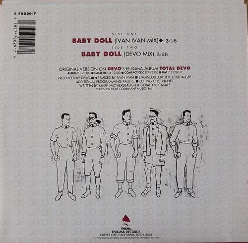 "DEVO Baby Doll (Enigma - USA original) (EX/NM) 7"""