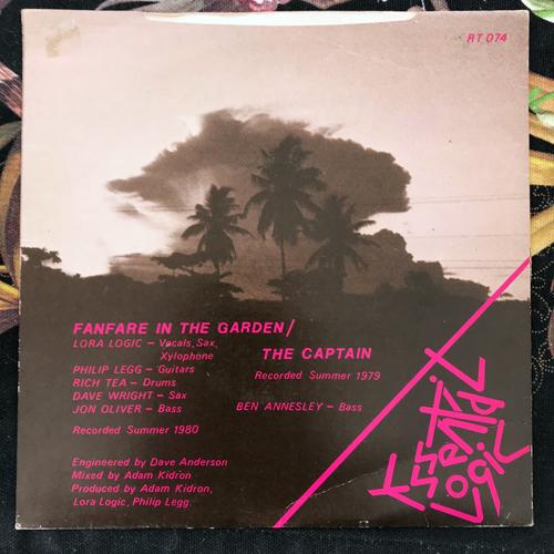 "ESSENTIAL LOGIC Fanfare In The Garden (Rough Trade - UK original) (VG/VG+) 7"""