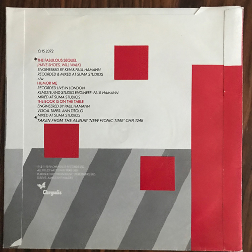 "PERE UBU The Fabulous Sequel (Have Shoes Will Walk) (Chrysalis - UK original) (VG+/EX) 7"""